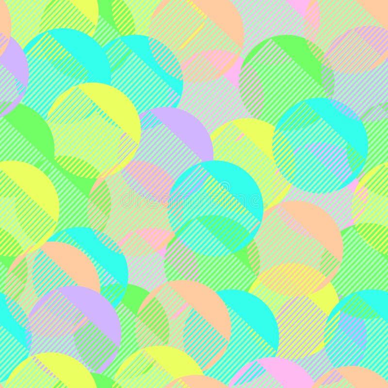 Peigne simple coloré en pastel géométrique ou brosse de modèle sans couture regardant des morceaux faits à partir de moderne drôl illustration stock