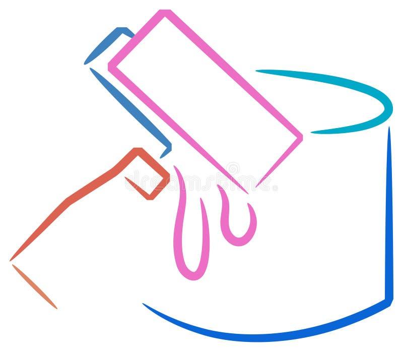 Peignez l'étain et le rouleau illustration libre de droits