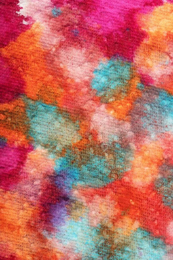 Peignez l'abstraction sur le papier de soie de soie photographie stock
