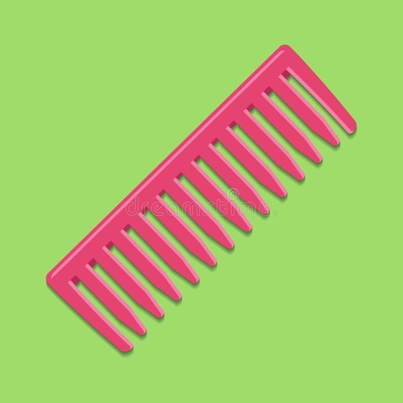 Peignez l'icône Pour peigner des cheveux, accessoire de femelle et de mâle illustration stock
