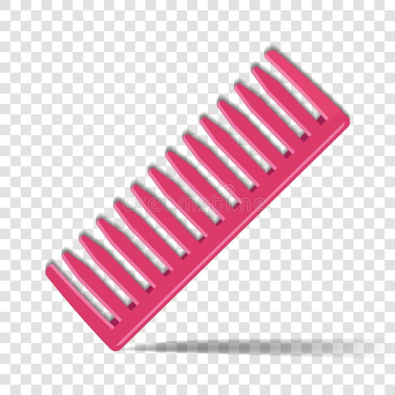 Peignez l'icône Pour peigner des cheveux, accessoire de femelle et de mâle sur a illustration libre de droits