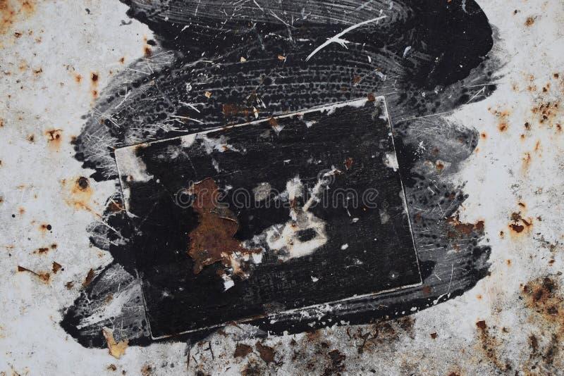 Peignez la surface métallique tachée photo stock