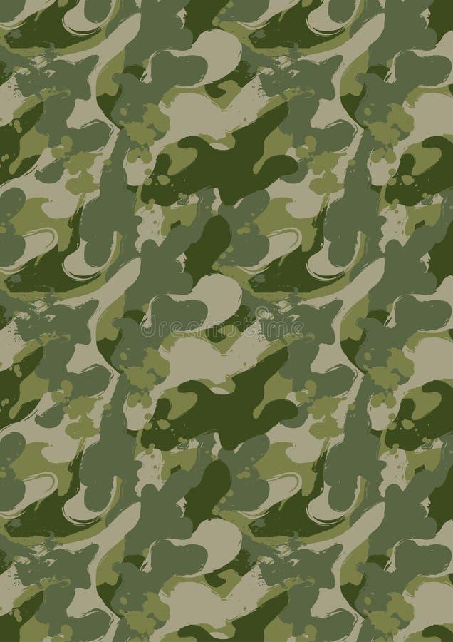 Peignez le camouflage d'éclaboussure illustration de vecteur