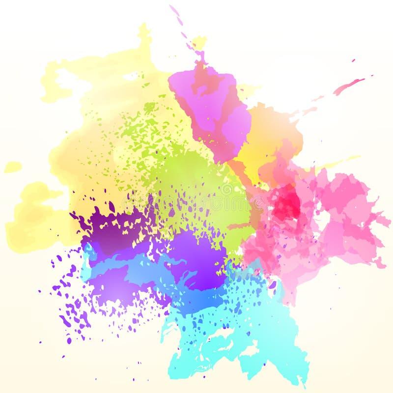 Peignez le fond coloré d'abrégé sur éclaboussure Vecteur illustration libre de droits