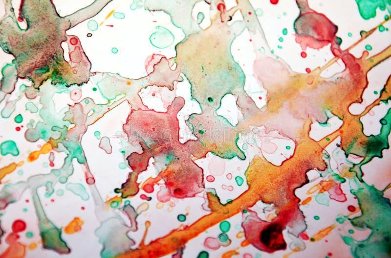 Peignez le fond coloré deacaying, texture colorée abstraite image libre de droits