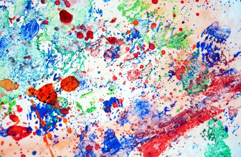 Peignez le fond en pastel coloré d'éclaboussure, texture colorée abstraite image libre de droits