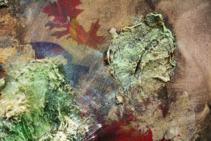 Peignez le fond foncé de rouge bleu de la peinture liquide de courses de brosse Fond d'abrégé sur peinture d'aquarelle images stock