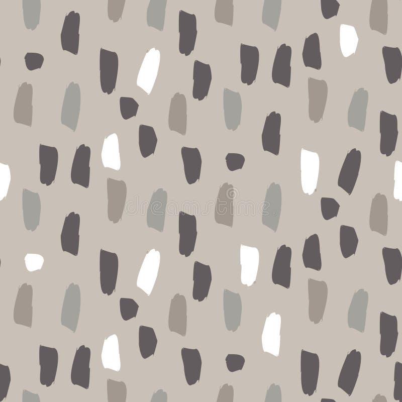 Peignez le modèle brun gris de vecteur sans couture de traçages d'éclaboussure illustration de vecteur