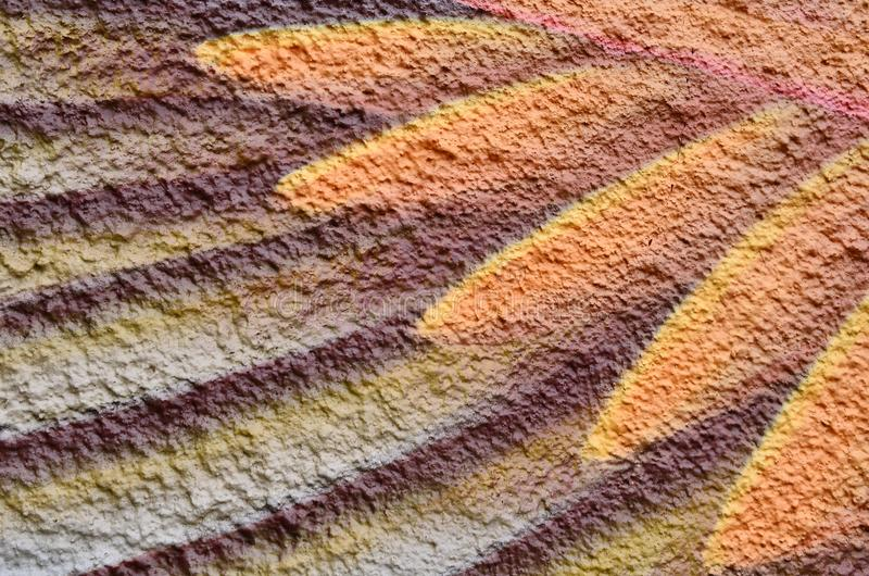 Peignez le textile coloré texturisé par fond photos stock