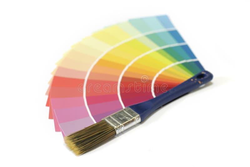 Peignez les échantillons photographie stock