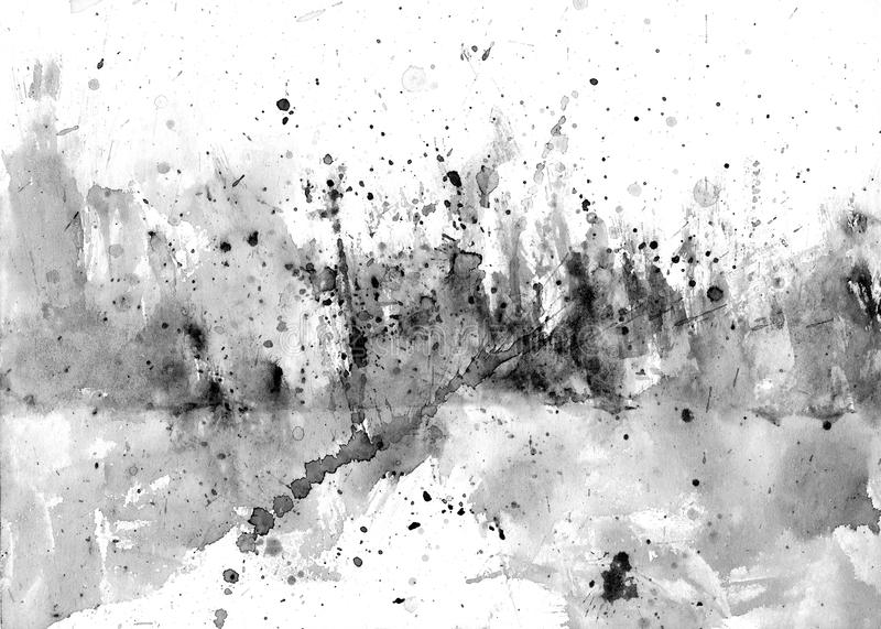 Peignez les éclaboussures sur le papier - fond abstrait illustration de vecteur