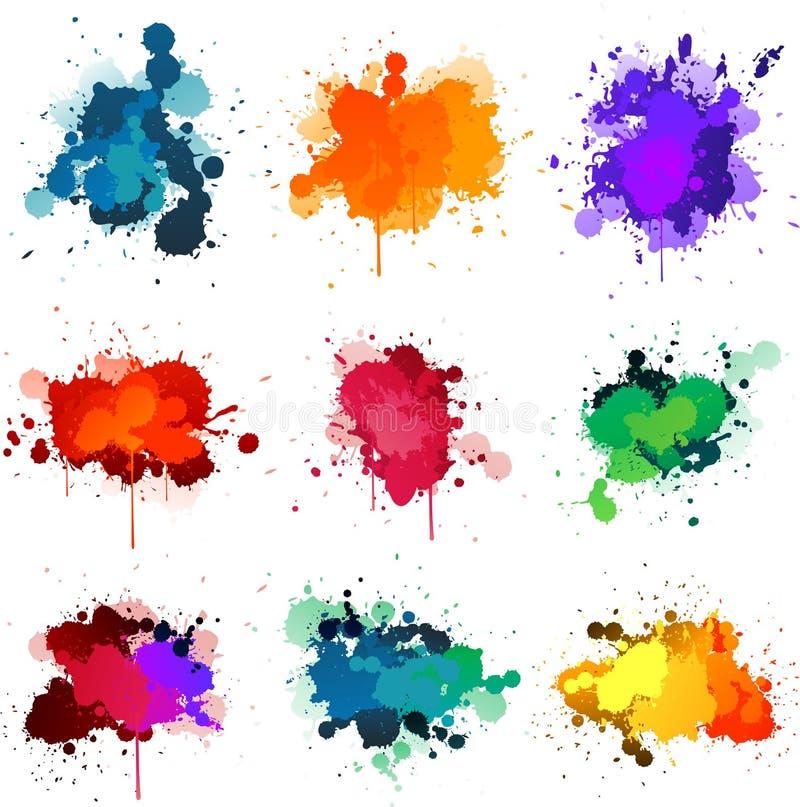 Peignez les splats illustration stock