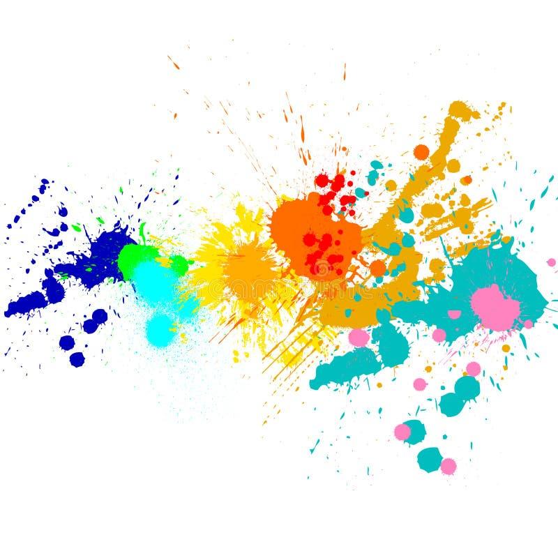 Peignez les splats illustration de vecteur