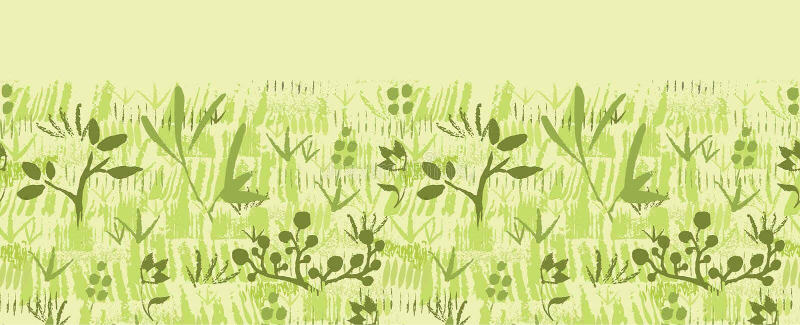 Peignez sans couture horizontal texturisé de plantes vertes illustration de vecteur