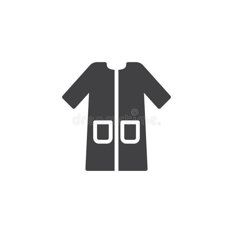 Peignoir avec l'icône de vecteur de poches illustration stock
