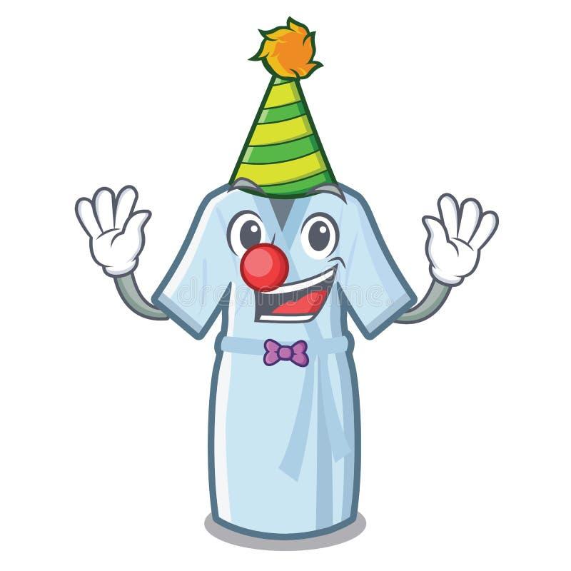 Peignoir de clown d'isolement avec dans la bande dessinée illustration de vecteur