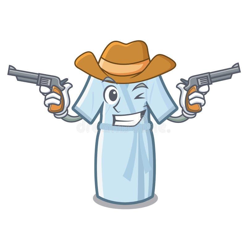 Peignoir de cowboy dans la forme de bande dessinée d'a illustration de vecteur