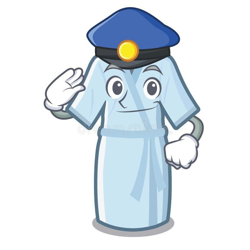 Peignoir de police dans la forme de bande dessinée d'a illustration stock