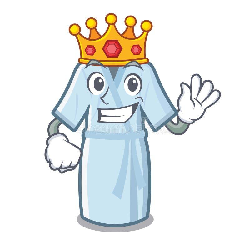Peignoir de roi d'isolement avec dans la bande dessinée illustration de vecteur