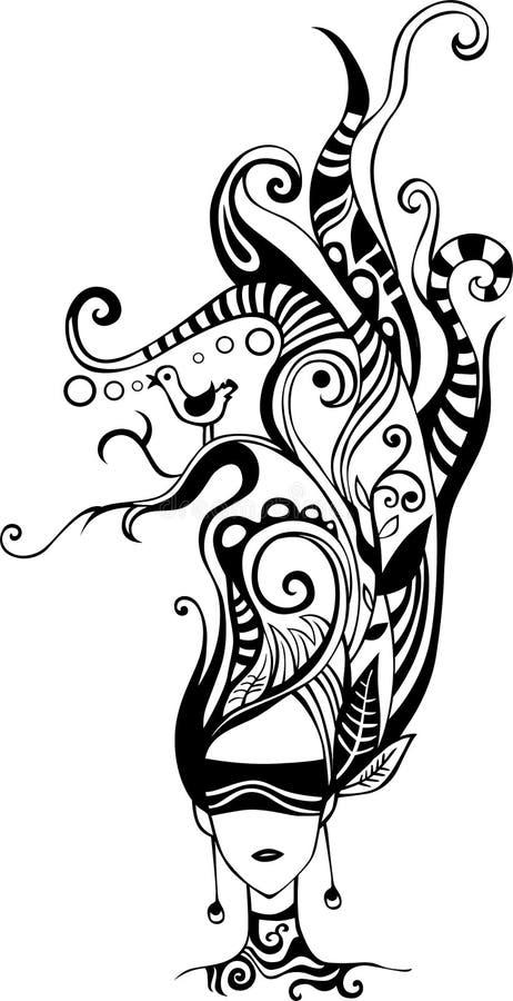 Peinado stock de ilustración