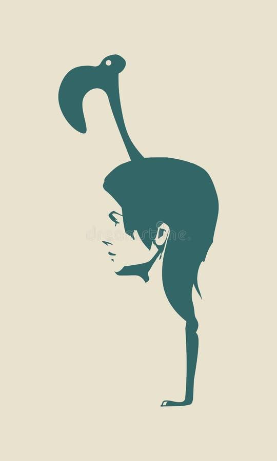 Peinado abstracto de la muchacha libre illustration