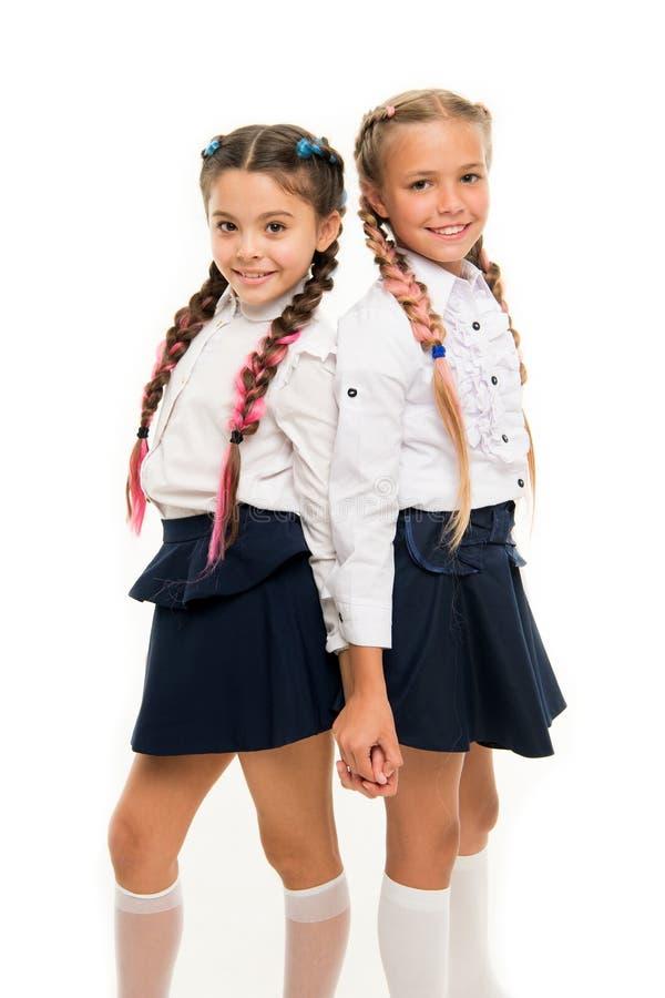 Peinado apropiado Trenzas largas de las muchachas Tendencia de la moda Es colores impresionantes de la diversión del pelo del tin imagen de archivo