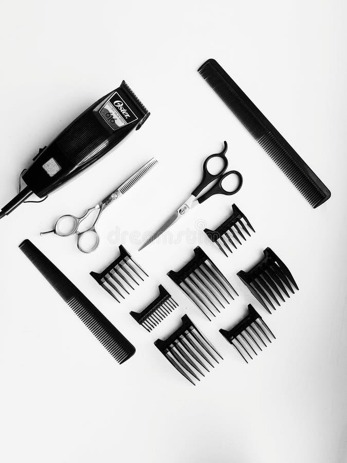 Peinado de Flatlay- imagen de archivo libre de regalías