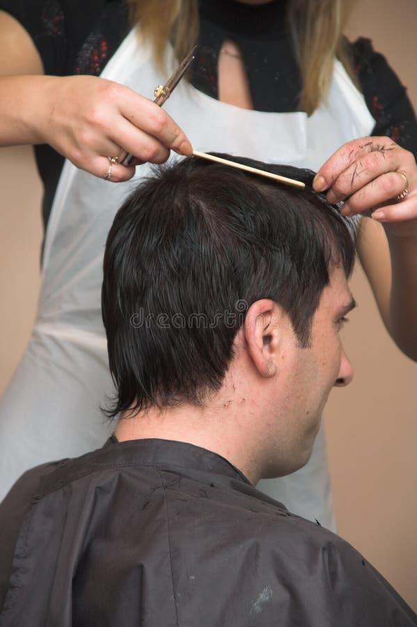 Peinado del hombre fotografía de archivo libre de regalías