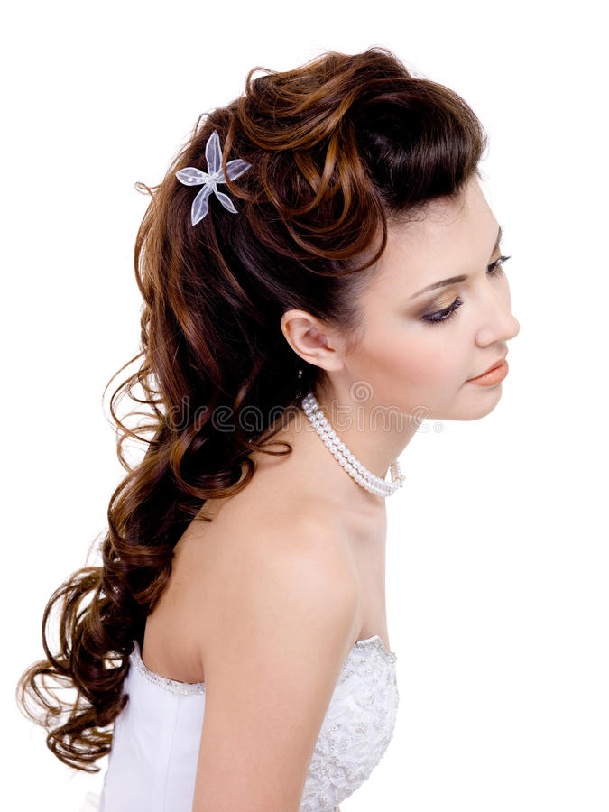 Peinado hermoso de la boda imagen de archivo libre de regalías