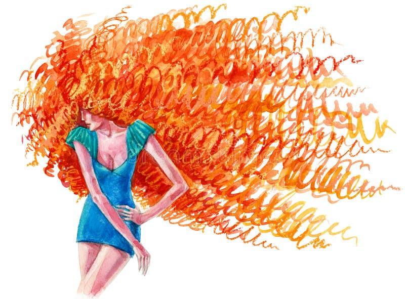 Peinado increíble stock de ilustración