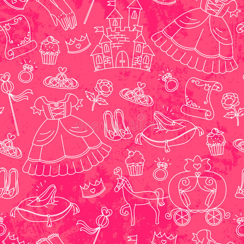 Download Peincess pattern stock vector. Image of collection, illustration - 27495110