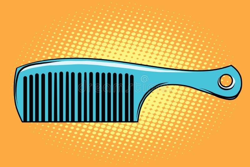 Peine azul del pelo stock de ilustración