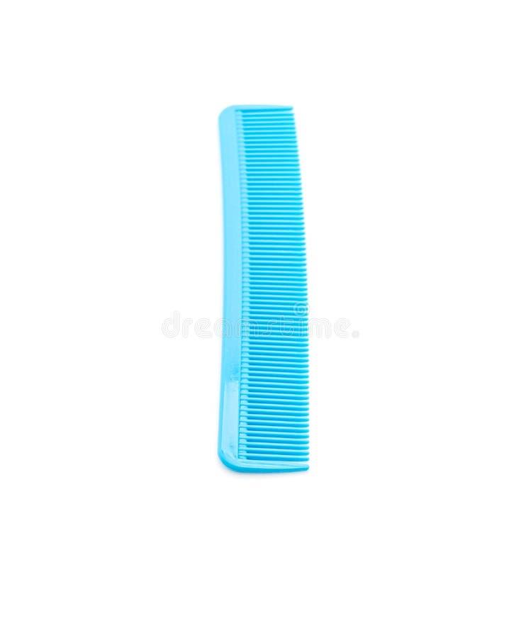 peine azul en blanco fotos de archivo libres de regalías