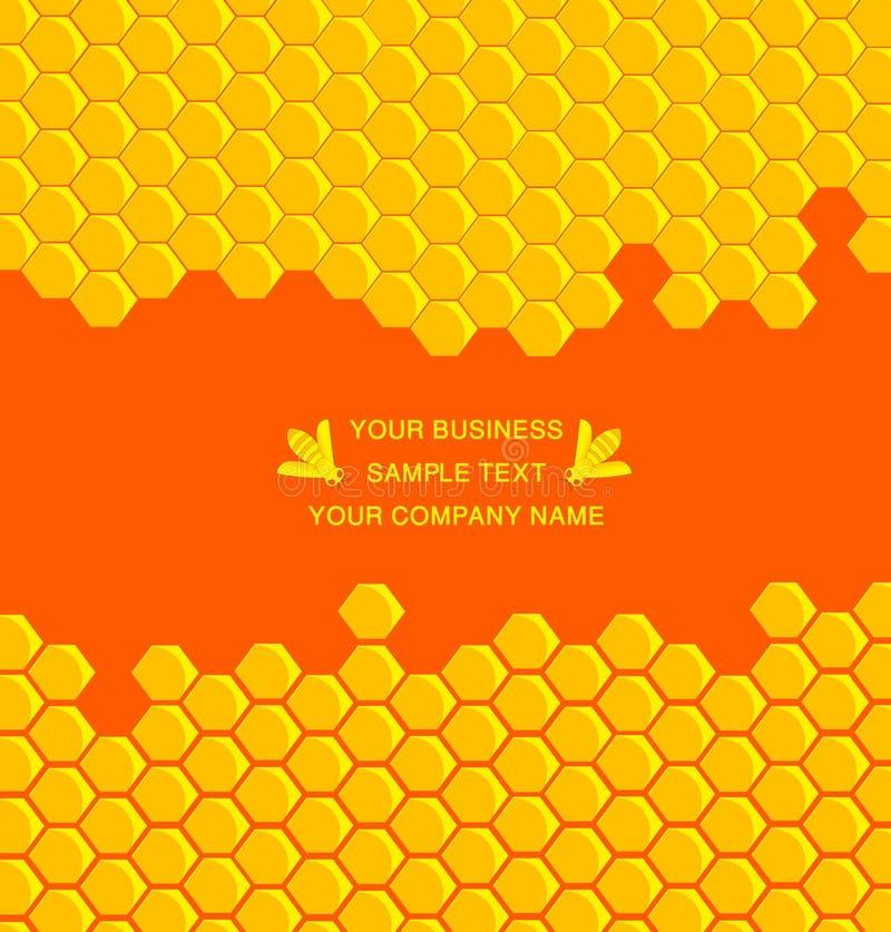 Peine de la miel stock de ilustración