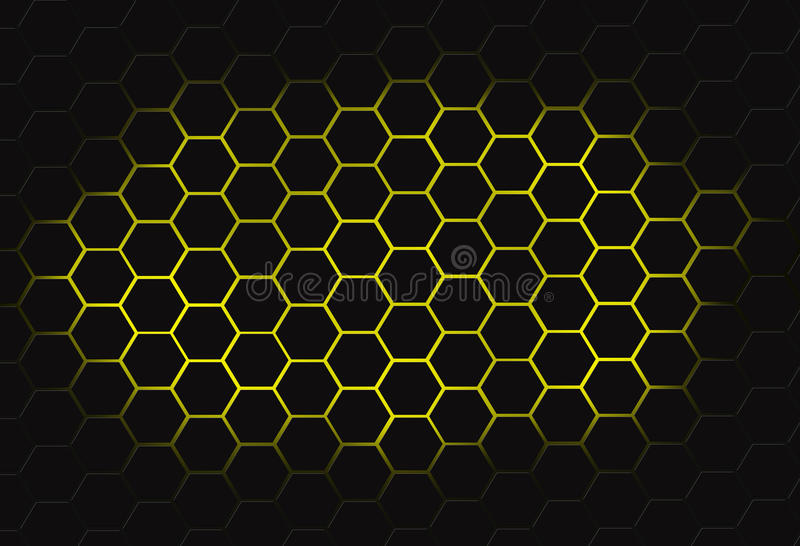 Peine de la miel del polígono fotos de archivo