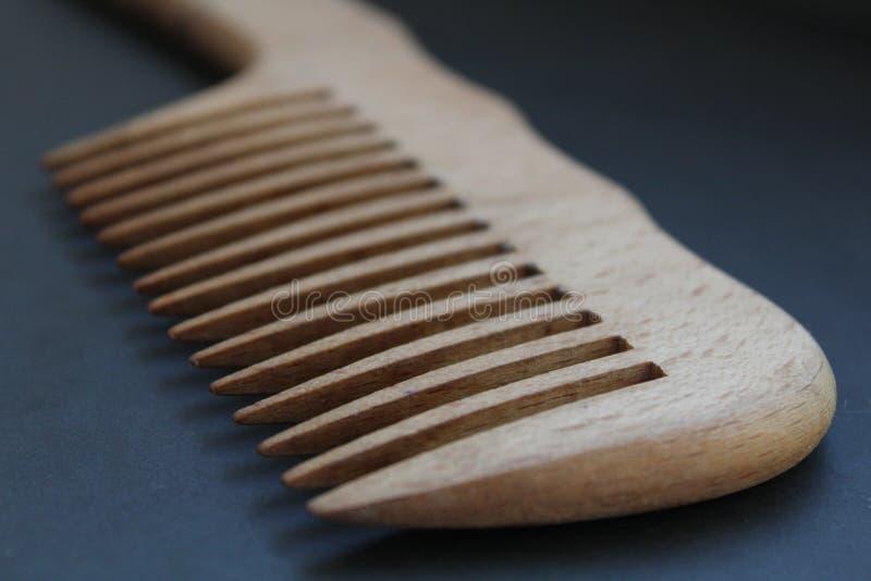 Peine de madera foto de archivo