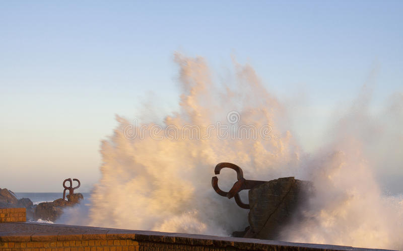 Download Peine Del Viento, Chillida, Donostia Stock Photo - Image: 22770056