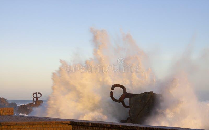 Peine del viento, Chillida, Donostia royalty free stock image