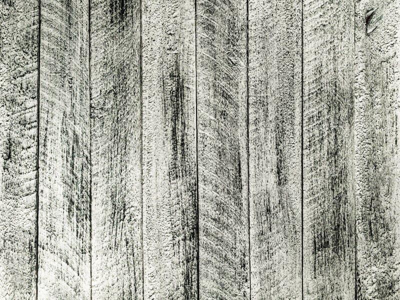 Peint dans le mur gris et blanc de couleur avec les planches en bois photographie stock