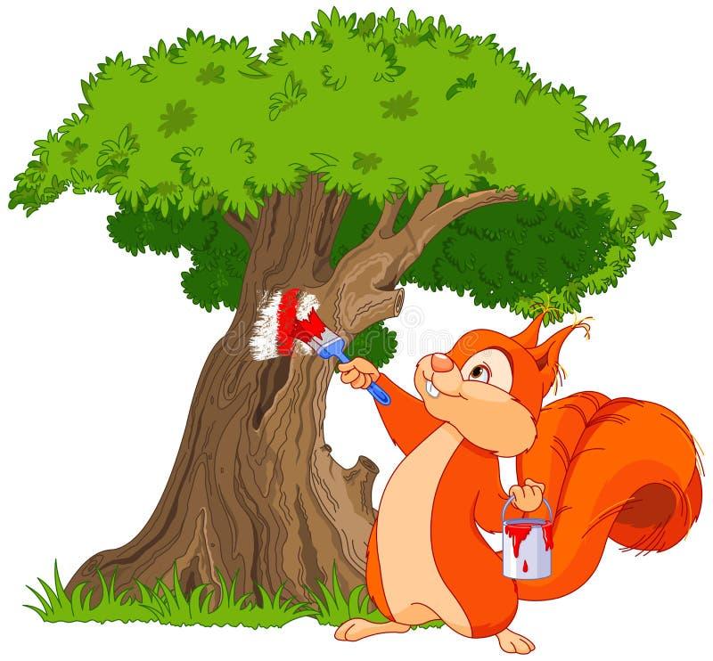 Peintre d'écureuil illustration de vecteur