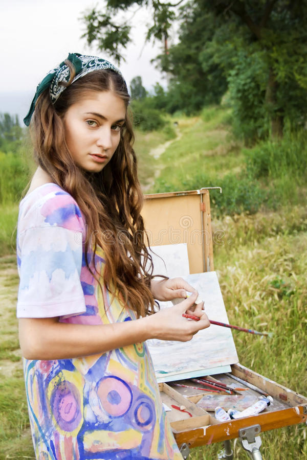 Peintre de femmes photos stock
