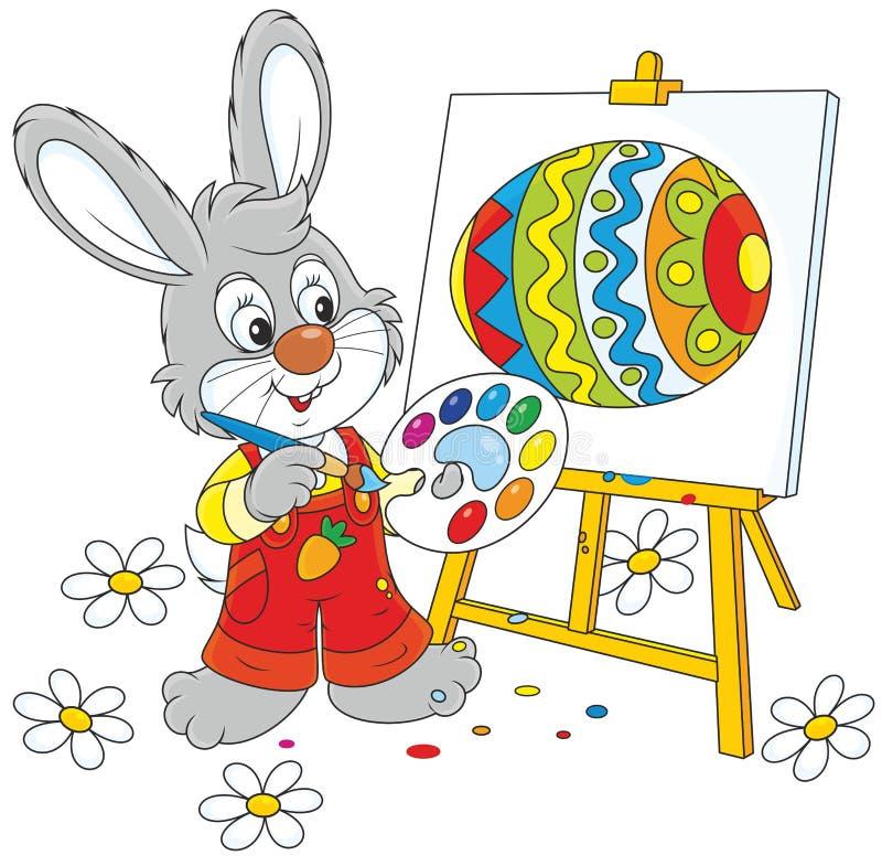 Peintre de lapin de Pâques illustration stock