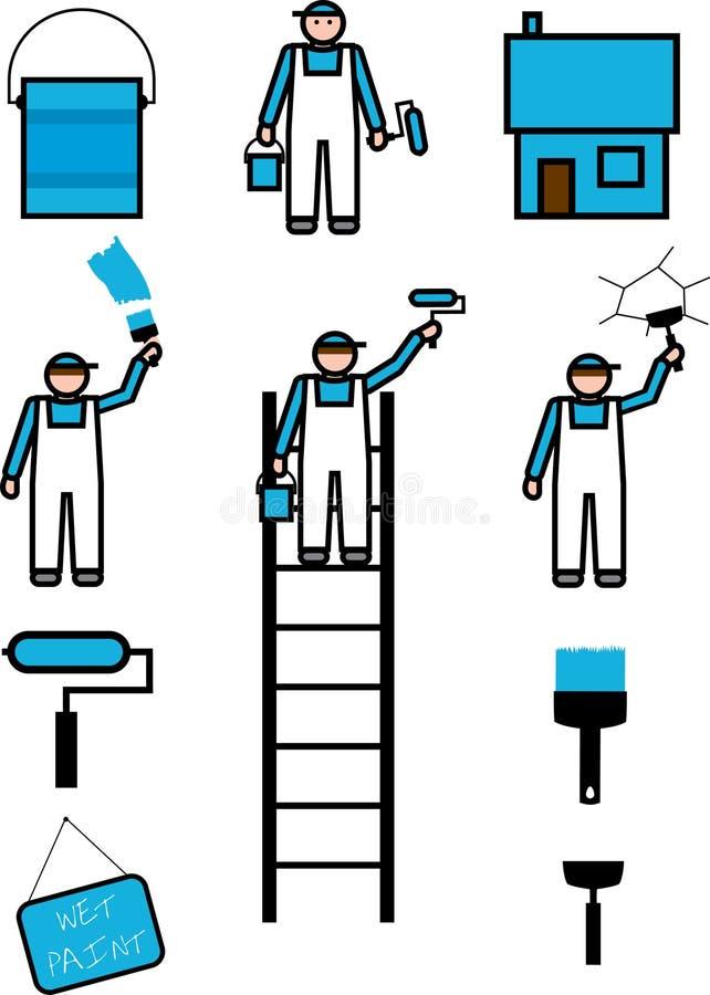 peintre de maison illustration de vecteur