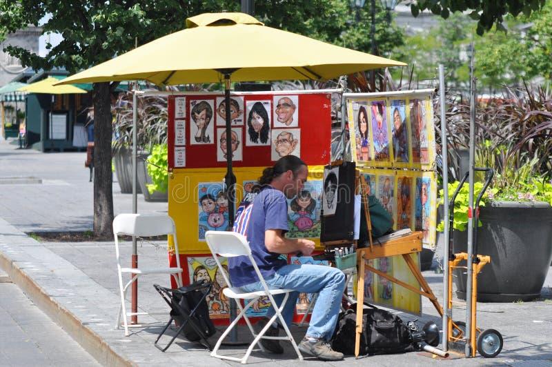 Peintre de rue à Montréal photographie stock