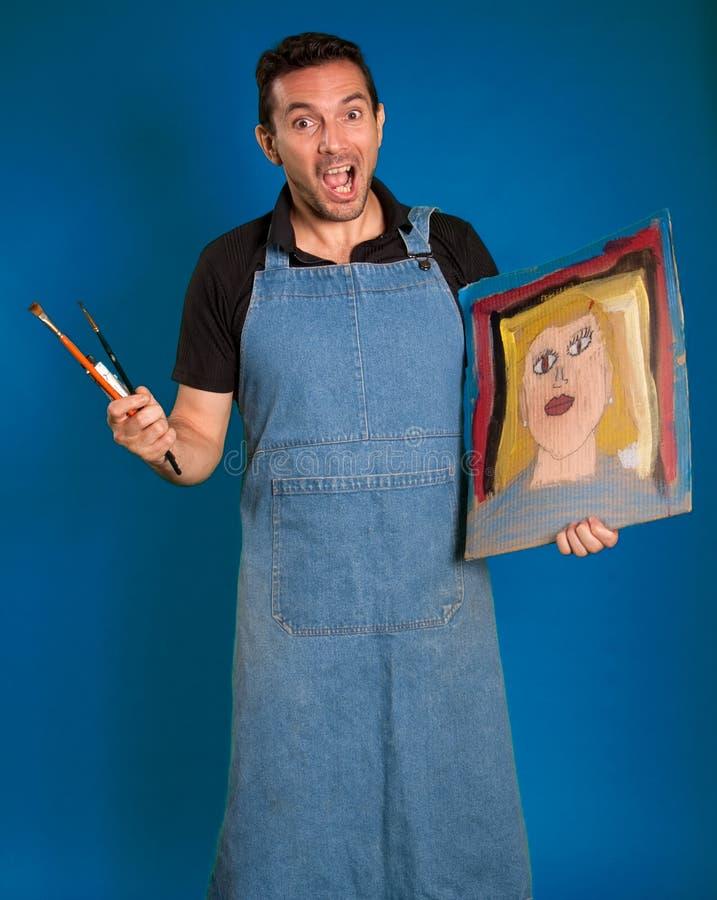 Peintre fou photographie stock libre de droits