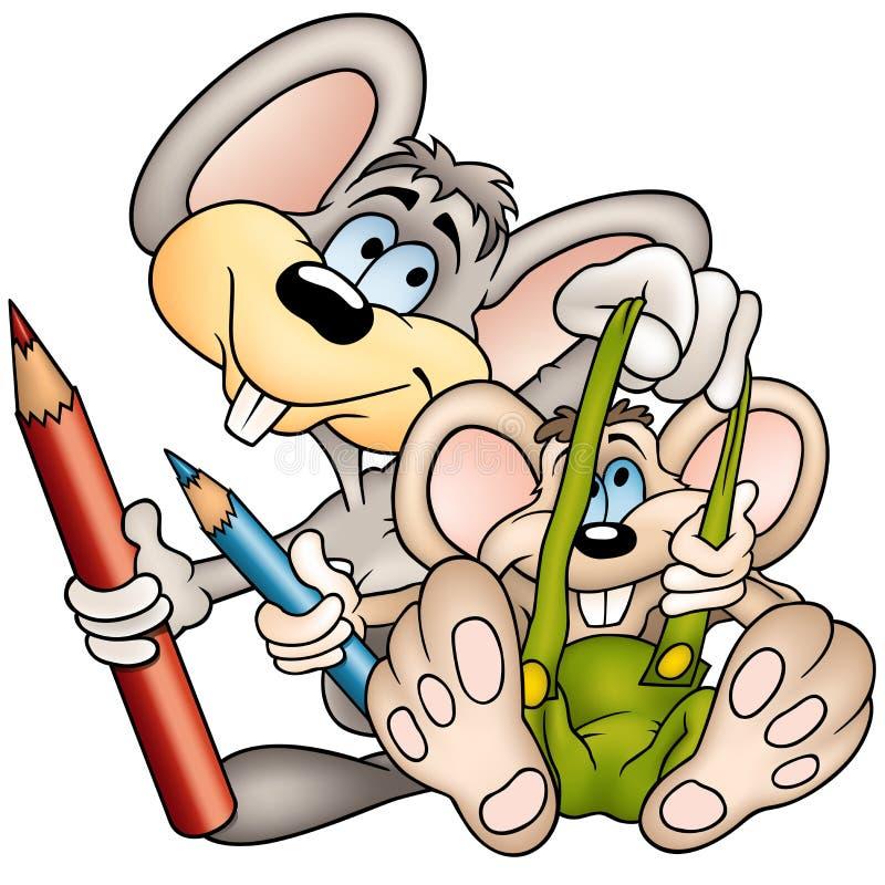 peintres deux de mouses illustration libre de droits