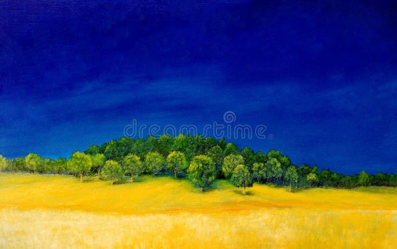 Peinture à l'huile illustration libre de droits