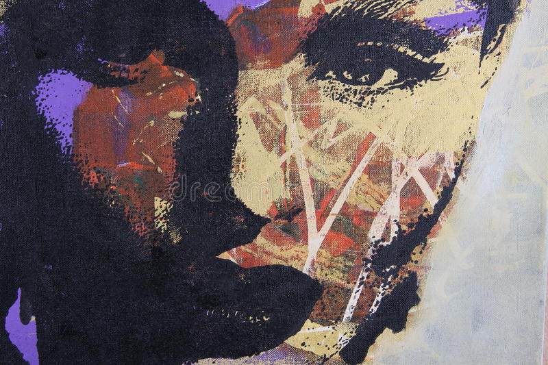 Peinture à l'huile illustration stock