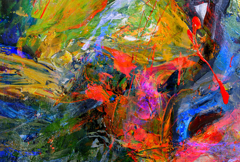 Peinture à l'huile image libre de droits