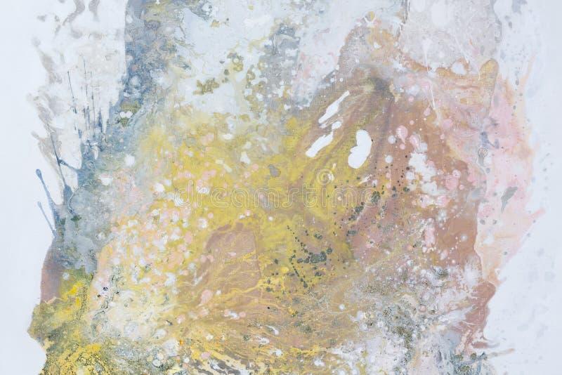 Peinture à l'huile abstraite L'écureuil sur le fond blanc, se ferment  photographie stock libre de droits